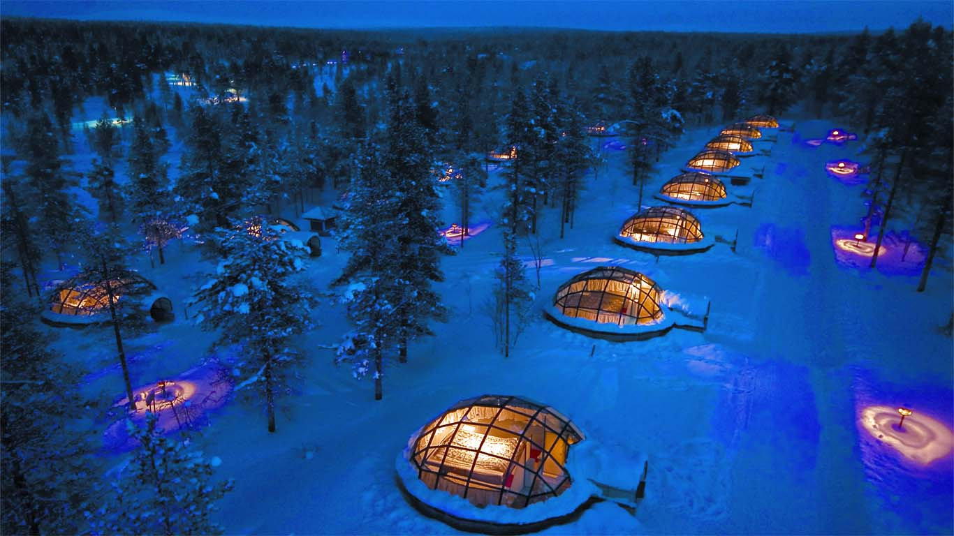 Glass igloos of kakslauttanen